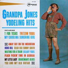 Grandpa Jones - Yodeling Hits (artyfakt*) Tags: vintage vinyl records artyfakt lp album cover art 60s 1960s goofball