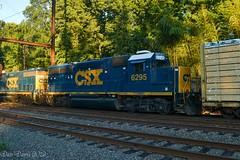CSX 6295 (Dan A. Davis) Tags: csx freighttrain locomotive train railroad pa pennsylvania woodbourne langhorne gp402