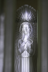 One of the chancel angels - Glass Church, Jersey (Monceau) Tags: chancel angel glass glasschurch renélalique jersey millbrook anglican lalique