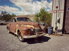 1940 Oldsmobile (dave_7) Tags: 1940 oldsmobile classic car rust bc garage
