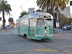 San Francisco, California (Jasperdo) Tags: sanfrancisco california embarcadero sfmuni vintagestreetcar streetcar trolley 1053