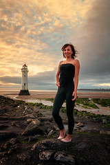 Madzia (Mariusz Talarek) Tags: lighthouse mtphotography madzia merseyside newbrighton seaside beach enjoy fun girl goldenhour happy landscape polishgirl portrait sunset sunsetlight