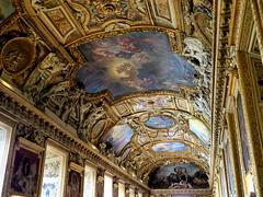 P5310417 (photos-by-sherm) Tags: galerie gallery dapollon louvre museum paris france summer art paintings ceilings statues tourists