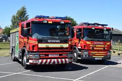 Humberside - YJ54EHW & YJ13GMX (matthewleggott) Tags: humberside fire rescue service engine appliance scania emergency one market weighton yj54ehw yj13gmx