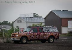 Perhaps A Flames Fan (HTT) (13skies) Tags: truck pickuptruck sitting flames small sparkle buildings design drive htt happytruckthursday sonya57