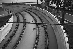 Tracks (Adam Chin) Tags: fujigw690ii ilforddelta400pro bw budapest hungary mediumformat