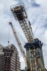 Cranes at Yonge + Rich condos site (jer1961) Tags: toronto yongeandrich yongerich greatgulf cranes constructioncranes masseytower masseytowercondos