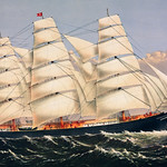 Clipper Ship Three Brothers, the largest sailing ship in the world published by Currier & Ives. Original from Library of Congress. Digitally enhanced by rawpixel. thumbnail