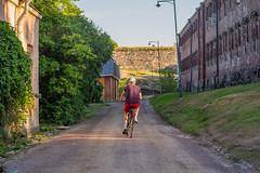 Lonely Biker in Suomenlinna (PatrickHansy) Tags: helsinki suomi finland finnland tallinn estland estonia summer sommer natur stadt city northerneurope europa nordeuropa meer sea balticsea ostsee heis eu strasen streets skandinavien skandinavia
