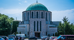 2018 - Hungary - Mohács - Battlefield Memorial Church (Ted's photos - For Me & You) Tags: 2018 cropped hungary mohács nikon nikond750 nikonfx tedmcgrath tedsphotos vignetting battlefieldmemorialchurch mohacsbattlefieldmemorialchurch battlefieldmemorialchurchmohacs mohácshungary church churchdome votivechurch mohacsvotivechurch votivechurchmohacs battleofmohács red redrule
