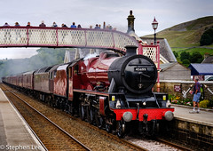 Galatea at Settle (StephenL in Settle) Tags: otherkeywords england northyorkshire galatea uk locomotive train steam station settle