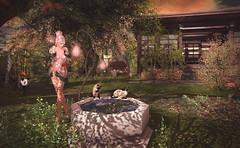 Wishful Thinking (Victoria Konnor James) Tags: aviglam cats catwa emery entwined garden goldfish insol izzies kimono koi maitreya myth panda pond redeux siamese zen serendipityposes