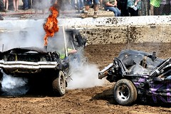 Flamer (Laurence's Pictures) Tags: boone county fair belvidere illinois state show animal politican tractor 2018 demolision demolition derby cars race auto automobile america crash junk racing nascar em up