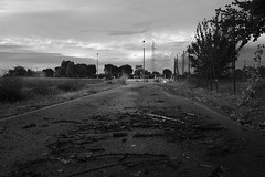 After the storm (Balthus Van Tassel) Tags: storm stormy twigs snap countryroad italy thunderstorm broken bnw clouds sky summer rainfall wind