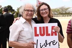 Ato inter-religioso reúne Nobel da Paz em apoio a Lula e solidariedade a grevistas. Foto: Magno Romero           Data:14/agosto/2018 (PTnaCâmara) Tags: ato inter religioso nobel da paz solidariedade stf greve de fome deputados maria do rosário