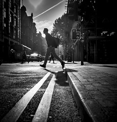 Manchester (kungfuslippers) Tags: streetphotography manchester silhouette mono