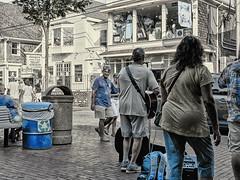PM Music--Commercial St (PAJ880) Tags: provincetown ma cape cod busker shops tourists street commercial st
