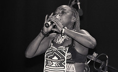 Brenda Fassie RIP from South Africa at The Stratford Rex London Ethnic Traditional Zulu Cultural Costume B&W Dec 21 2001 081a (photographer695) Tags: brenda fassie rip from south africa the stratford rex london ethnic traditional zulu cultural costume bw dec 21 2001