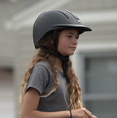 Young Equestrian (Scott 97006) Tags: girl ride parade blonde cute helmet