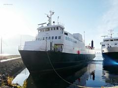 """""""Bognes"""" og """"Stetind"""" (OlafHorsevik) Tags: ferge ferga ferry ferja ferje torghattennord thn bognes stetind tromsø reserveferge"""