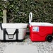 Coolers outdoors