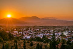 Sunset in the village (Vagelis Pikoulas) Tags: sun sunset greece europe sky village villagescape canon 6d tokina 2470mm view summer august 2018