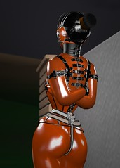 M_015 (susansq14) Tags: secondlife second life bondage heavy rubber latex mask gag gagged susan saariquandt prisoner rubberslave bound indoor heavyrubber gearfetish rubberbondage insex fetisheyes pvc plastic leather total immobilization sensory deprivation rainwear outdoor