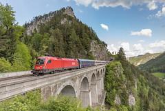 ÖBB 1116 187.  Krausel-Klause-Viaduct Semmeringbahn (Hans Wiskerke) Tags: breitenstein niederösterreich oostenrijk at