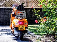 Vespa! (RichardK2018) Tags: zuiko 40150mmolympus em1 mk2 matlock vespa telephotovivid scooter