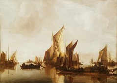 Painting:Jan van de Cappelle 1626-1679,Dutch,A State Yacht and Other Craft in Calm Waters 1660,oil on wood (marcos2077) Tags: metropolitanmuseumofart