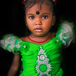 Portrait of a beautiful Indian little girl thumbnail