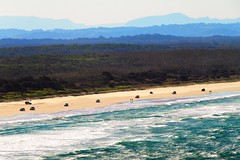 Ocean, Beach and Mountain layers, Evans Head, North New South Wales, Australia (Red Nomad OZ) Tags: saariysqualitypictures water australia beach landscape sea mountain ocean coast sky newsouthwales nsw evanshead 4wd