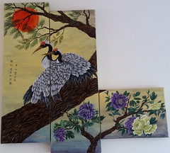Cranes (2018) Full painting (mtaekker) Tags: birds cranes painting chinese art flowers acrylic gallery taekker