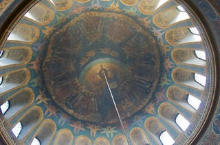 Pantocrator in the dome: St Nedelya Church, Sofia, Bulgaria.