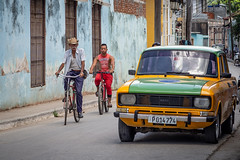 transport-2 (Mariasme) Tags: trinidad cuba transport bikes taxi colours fromyourtravels