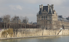Louvre viewed from Seine (PhotonArchive) Tags: louvre building architecture river seine ornate
