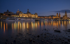 Dresden after sunset - HDR (stefanfricke) Tags: dresden saxony sachsen bluehour hdr sony ilce7rm2 sel1635z elbe