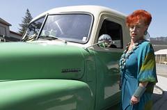 Vintage Vintage (bobshonkoff) Tags: chevrolet truck vintage redhead green