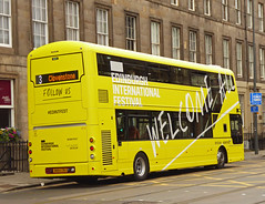 Edinburgh International Festival (SRB Photography Edinburgh) Tags: edintfest internationalfestival festival edinburgh lothian buses bus advert yellow road