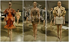 Crystallization, Transforming Fashion, Designing the Impossible by Iris Van Herpen, Royal Ontario Museum, Toronto, ON (Snuffy) Tags: crystallization transformingfashion designingtheimpossible irisvanherpen royalontariomuseum rom toronto ontario canada