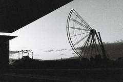presque une fête (asketoner) Tags: wheel wonder sky marseille mucem harbour museum france construction half part circus