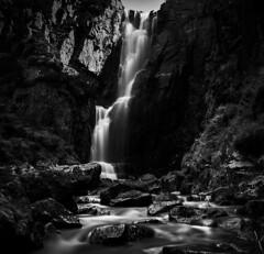 Wailing (cliveg004) Tags: wailingwidowfalls unapool kylesku sutherland assynt waterfall river stream burn rocks le bw mono monochrome scotland highlands northwesthighlands water blur longexposure nikon d5200 landscape
