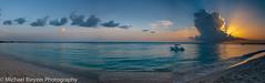 Cayman Sunset Pano (mbfirefly) Tags: sand sunset sea ci kids beach cayman boys playing