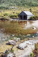 Dove lake boathouse. (taszee63) Tags: tasmania dovelake hdr 3xp cradlemountain boathouse boatshed mountain lake