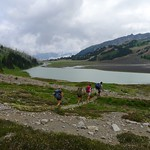 BC Ski Team Summer Training Group ladies hiking at Garibaldi Provincial Park