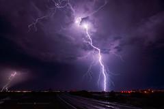 Salome Strike (Mike Olbinski Photography) Tags: 20180814 sigmaart1424mm sonya7riii freeways interstate10 lighttrails lightning monsoon positivecg rain roads salomehighway stormchasing