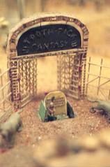 Toothpick Fantasy (marmotfotos) Tags: automaton cemetery miniature museum skeleton sanfrancisco california biketouring