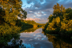 Evening at the Canal (Sergey Surovy) Tags: 2018 belarus minsk nikond7100 sigma183518 nature landscape water refllections sunset