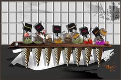 Helado para todos (Hace calor) (Amparo Higón) Tags: calor hot icecream helados summertime digitalart oladecalor digitalpainting kunst modernekunst modernart arte contemporáneo art coreldraw amparohigón