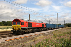 66097 6M16 chaloners whin 02.08.2018 (Dan-Piercy) Tags: dbcargo dbs class66 66097 chalonerswhin askhambar 6m16 wilton knowsley empty bins ecml